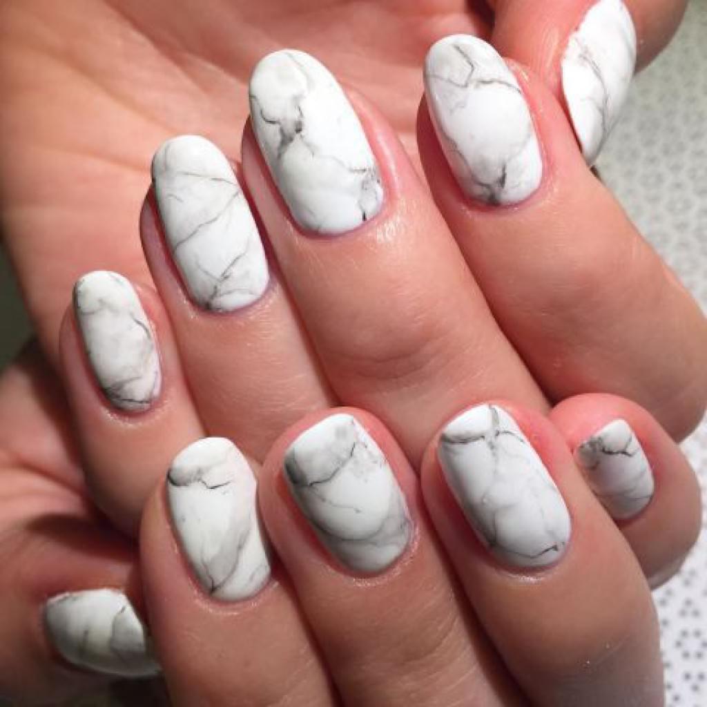 Как сделать мраморный маникюр гель-лаком, делать мрамор на ногтях гелевым лаком, нарисовать (рисовать) мрамор